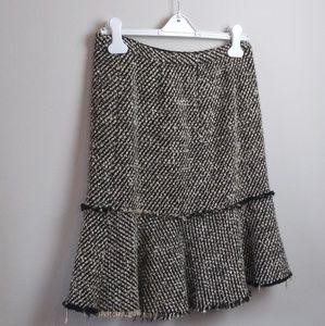 J.Crew Wool Blend Tweed Skirt Black/Beige(4)